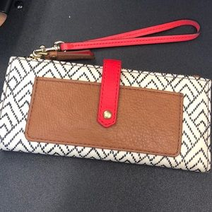 Brand New With Tags Fossil Chevron Wristlet